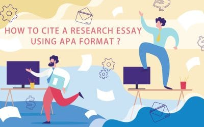 How to cite a research essay using APA format?