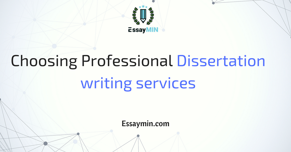 Writing dissertation services