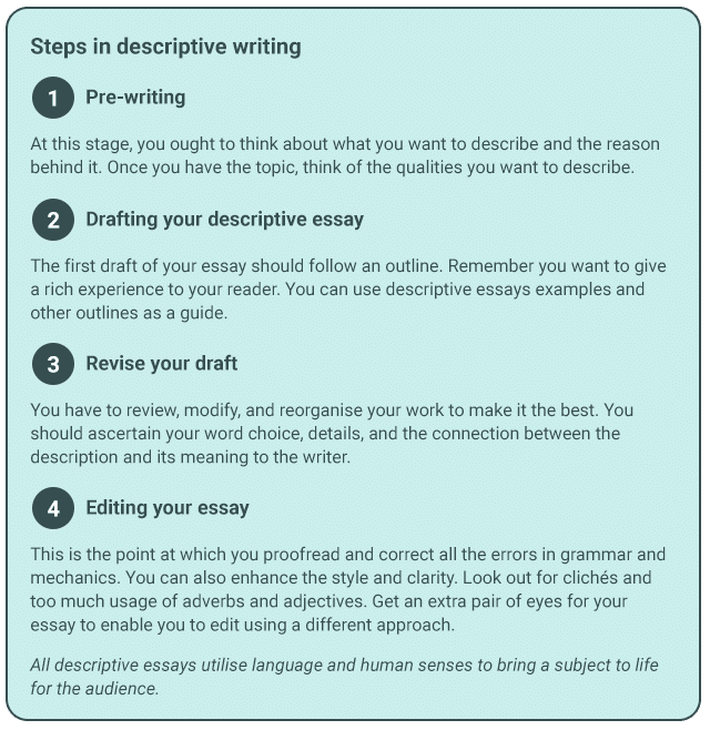 Descriptive Essay Writing with Examples - Dos and Don'ts