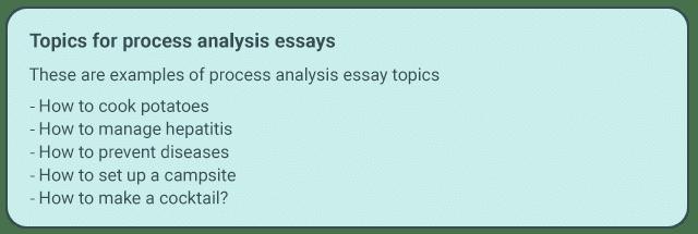 process analysis   essaymin writing the process analysis essay